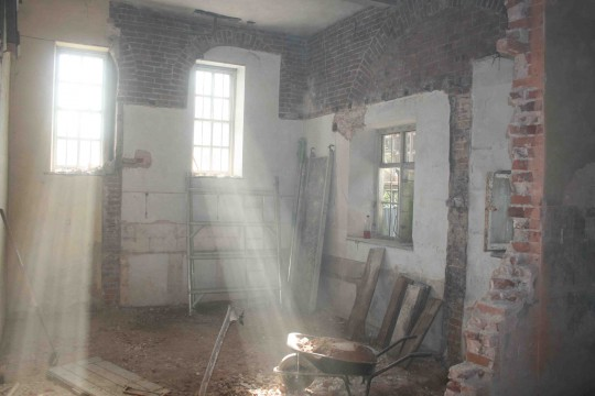 Breaking through the walls to create the Garden Room