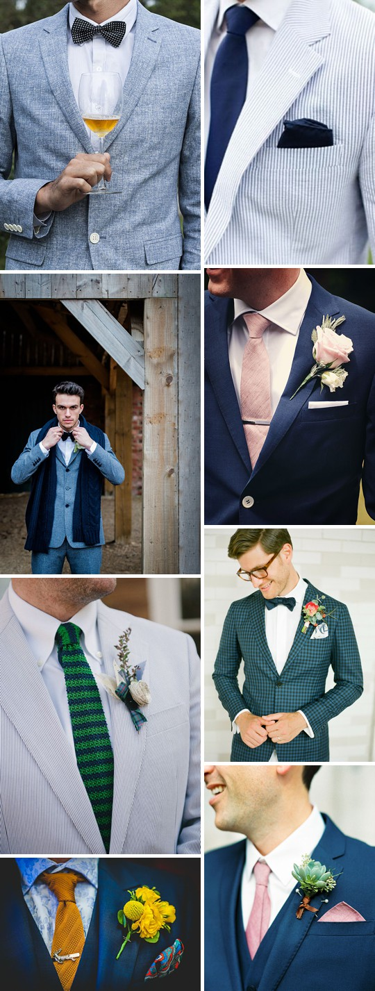 An Inspiration Post Filled With Ideas On What A Groom Can Wear On His Wedding Day_0002