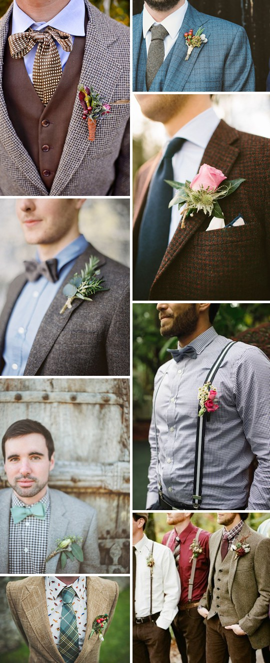 An Inspiration Post Filled With Ideas On What A Groom Can Wear On His Wedding Day_0003