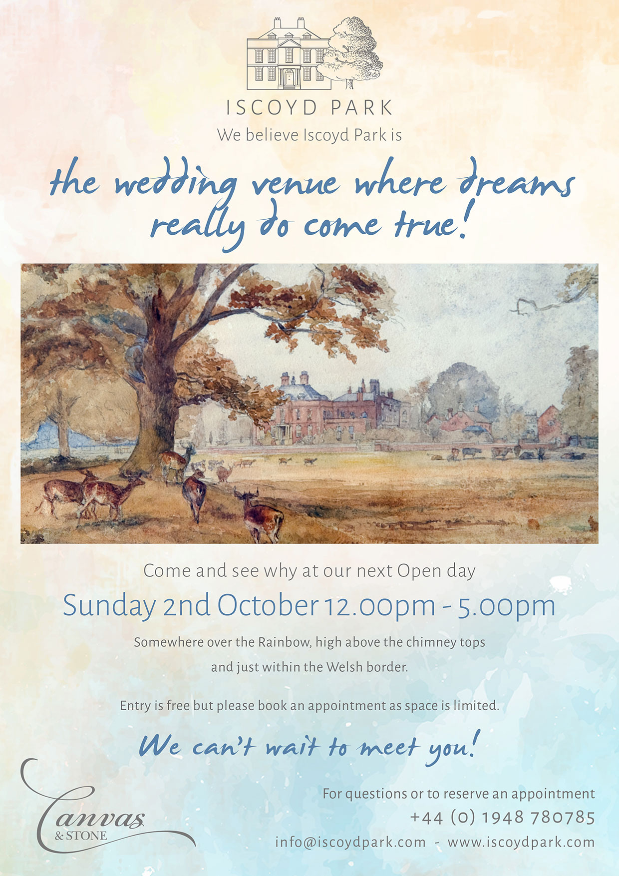 Wedding open day at Iscoyd Park, October 2nd 2016